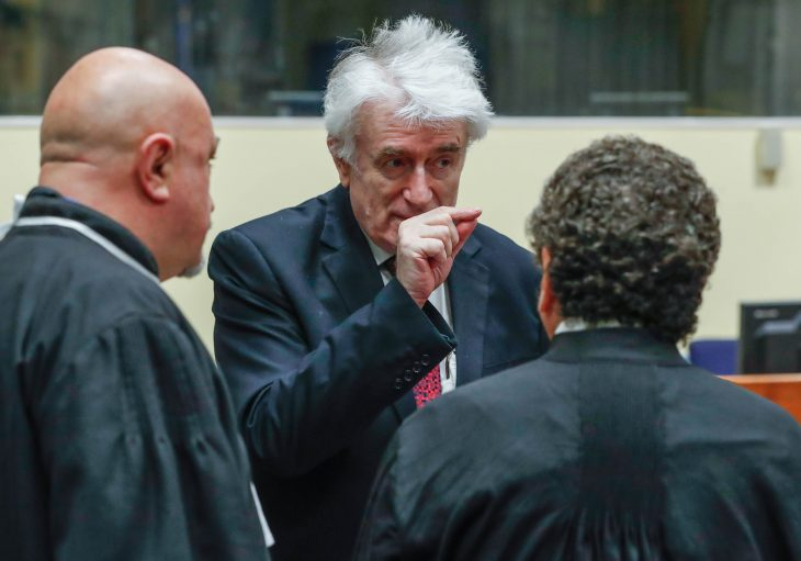 Karadzic urges UN judges to throw out war crimes conviction