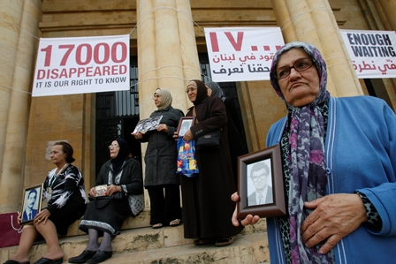 No resolution for the missing persons in Lebanon