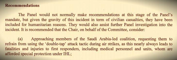 Attack on Yemen funeral violated humanitarian law – UN panel, according to IRIN