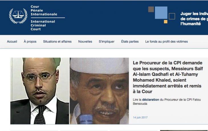 ICC calls for 'immediate arrest' of Kadhafi son
